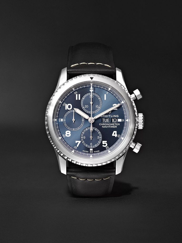 Breitling Navitimer 8 Automatic Chronograph 43mm Steel and Leather Watch, Ref. No. A13314101C1X1