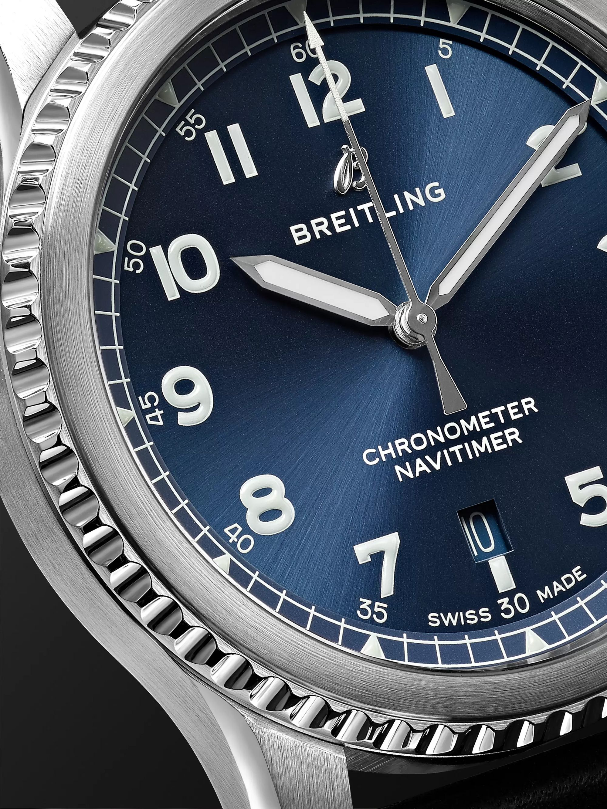 Breitling Navitimer 8 Automatic Chronometer 41mm Steel and Leather Watch, Ref. No. A17314101C1X2