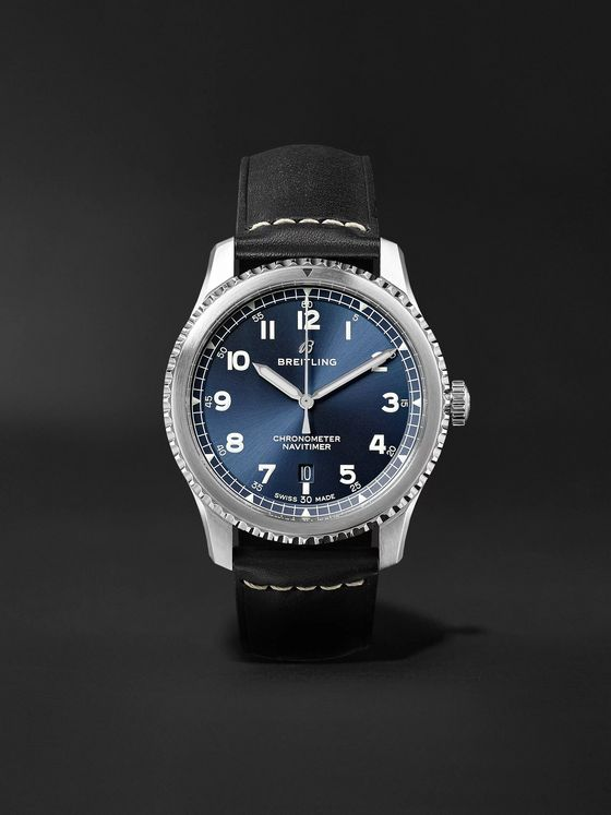 Breitling Navitimer 8 Automatic 41mm Steel and Leather Watch, Ref. No. A17314101C1X2