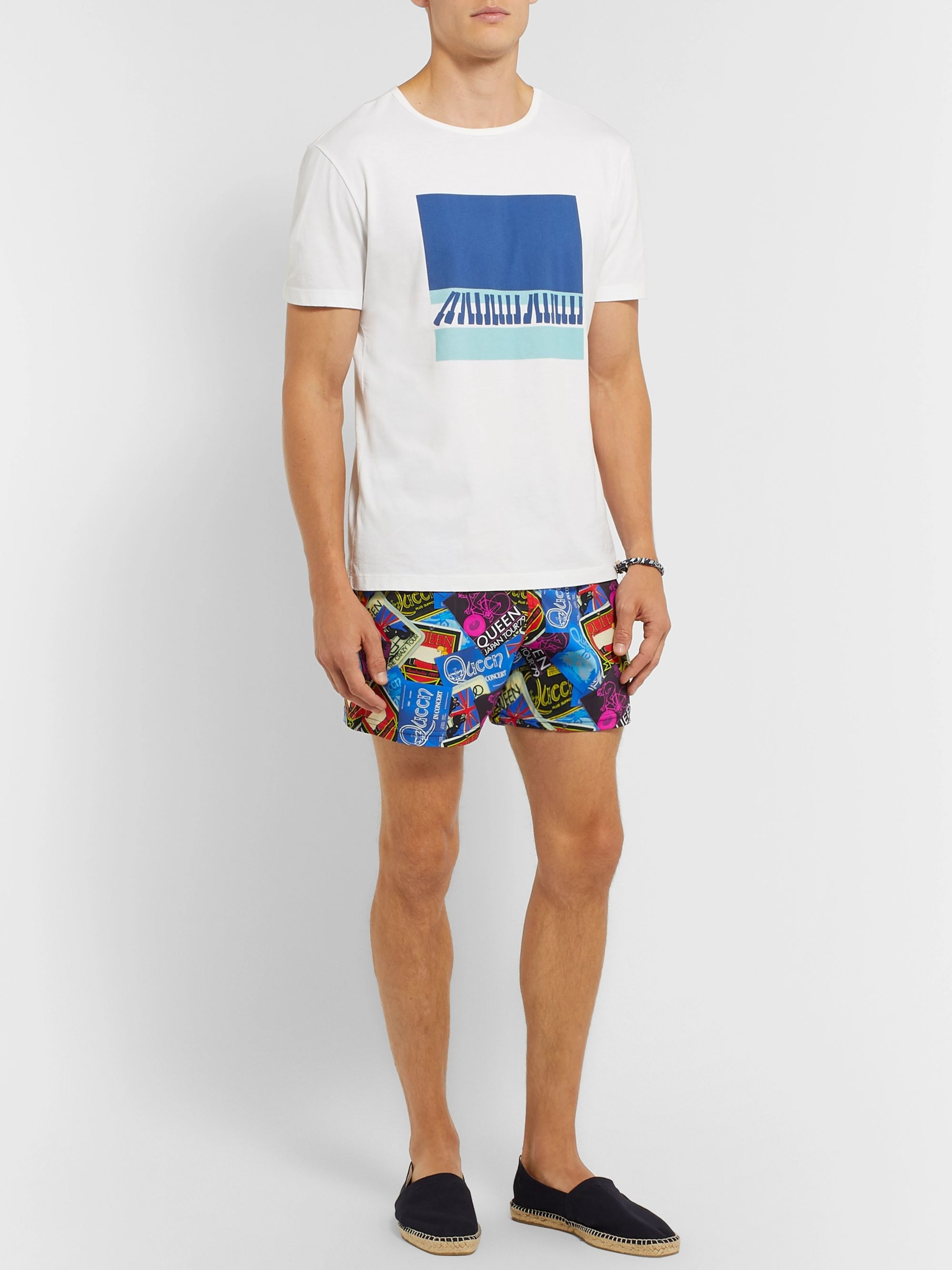 Vilebrequin Moonrise Mid-Length Printed Swim Shorts
