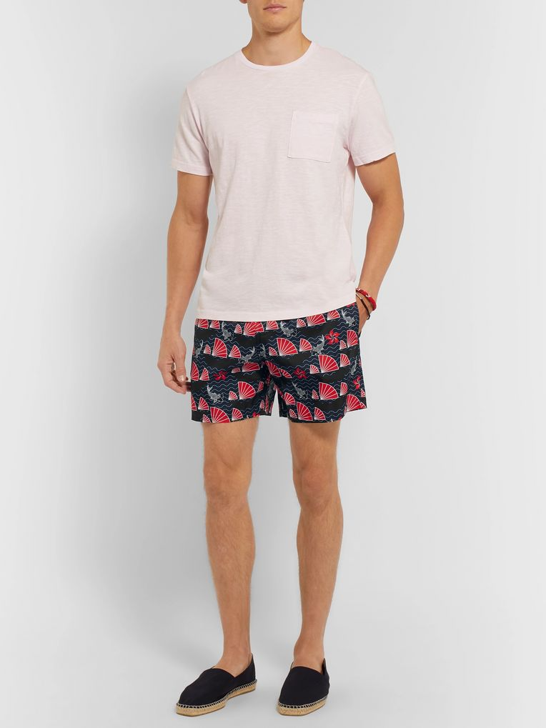 Vilebrequin Mahina Slim-Fit Mid-Length Printed Swim Shorts