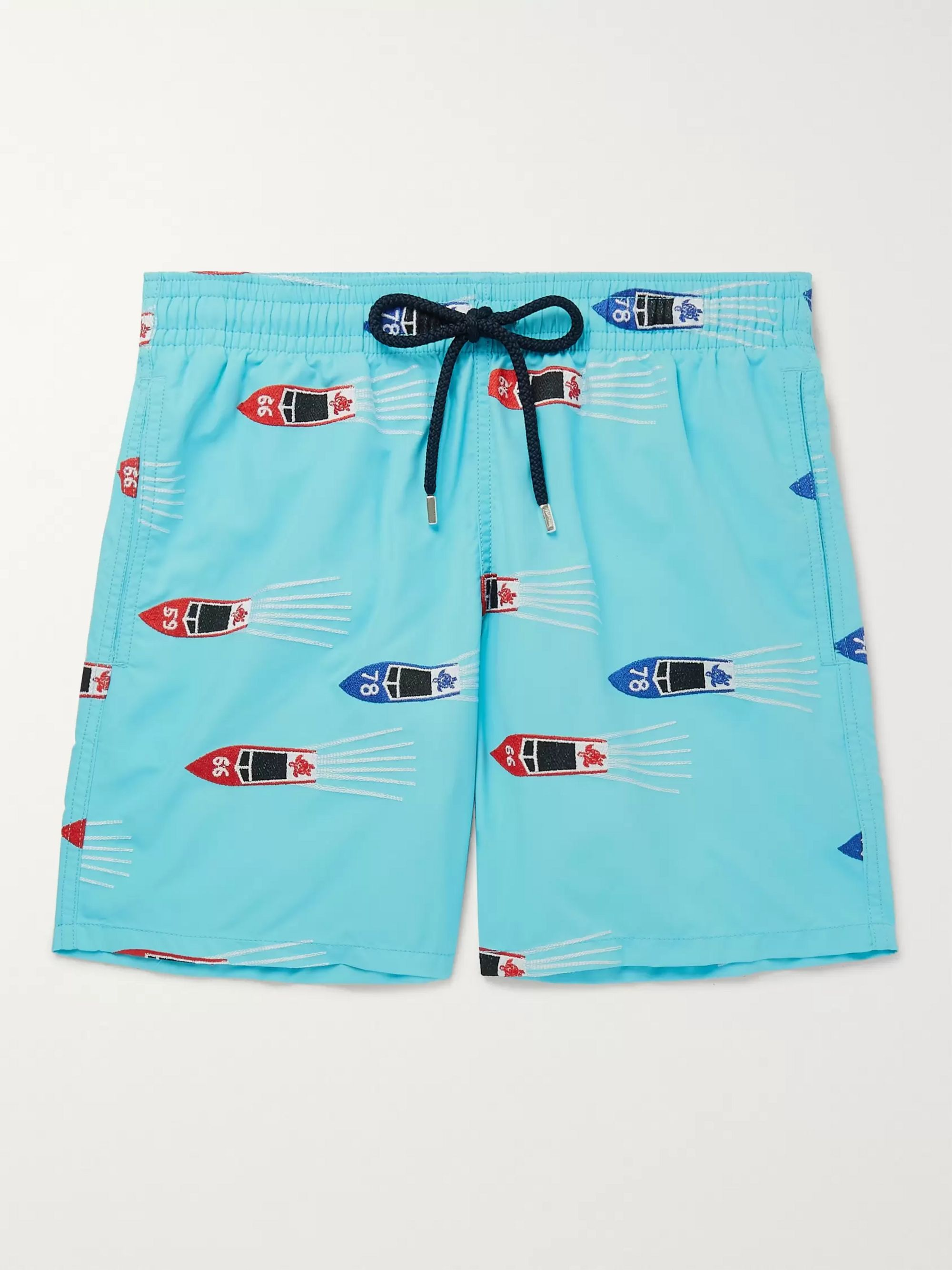 Vilebrequin Mistral Mid-Length Embroidered Swim Shorts