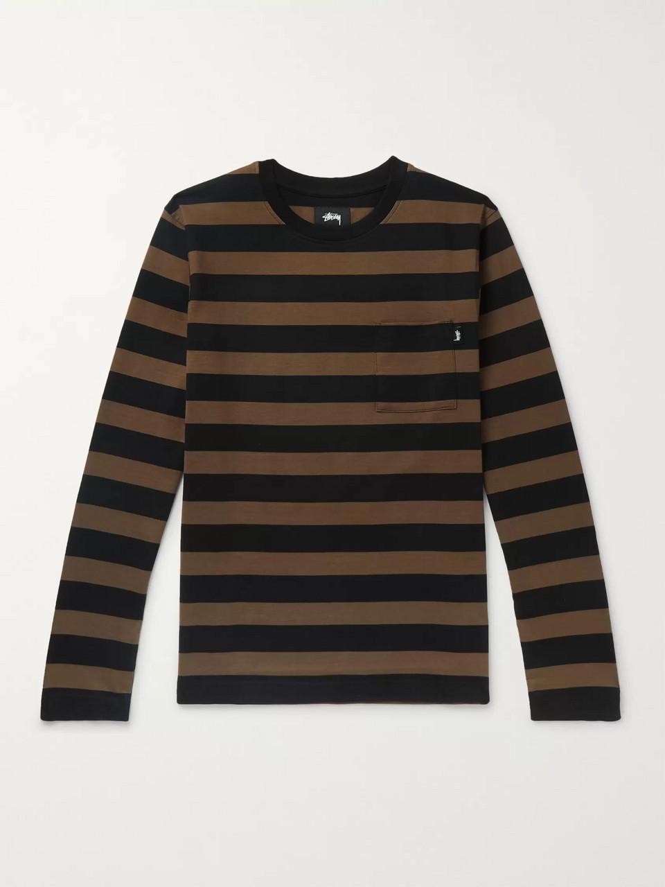 77eeac189a Brown Malcolm Striped Cotton-Jersey T-Shirt | Stüssy | MR PORTER