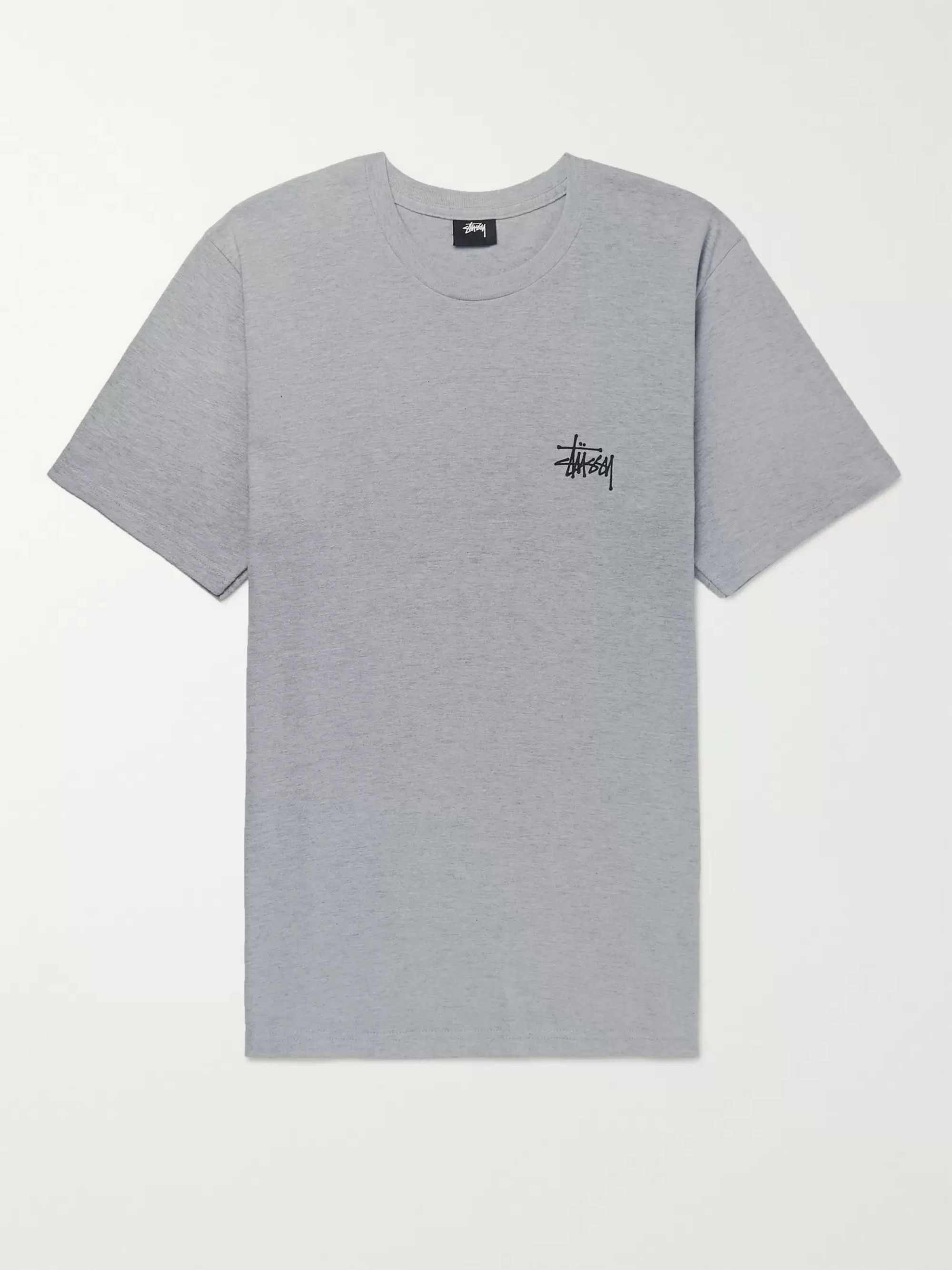Stüssy Logo-Print Cotton-Blend Jersey T-Shirt