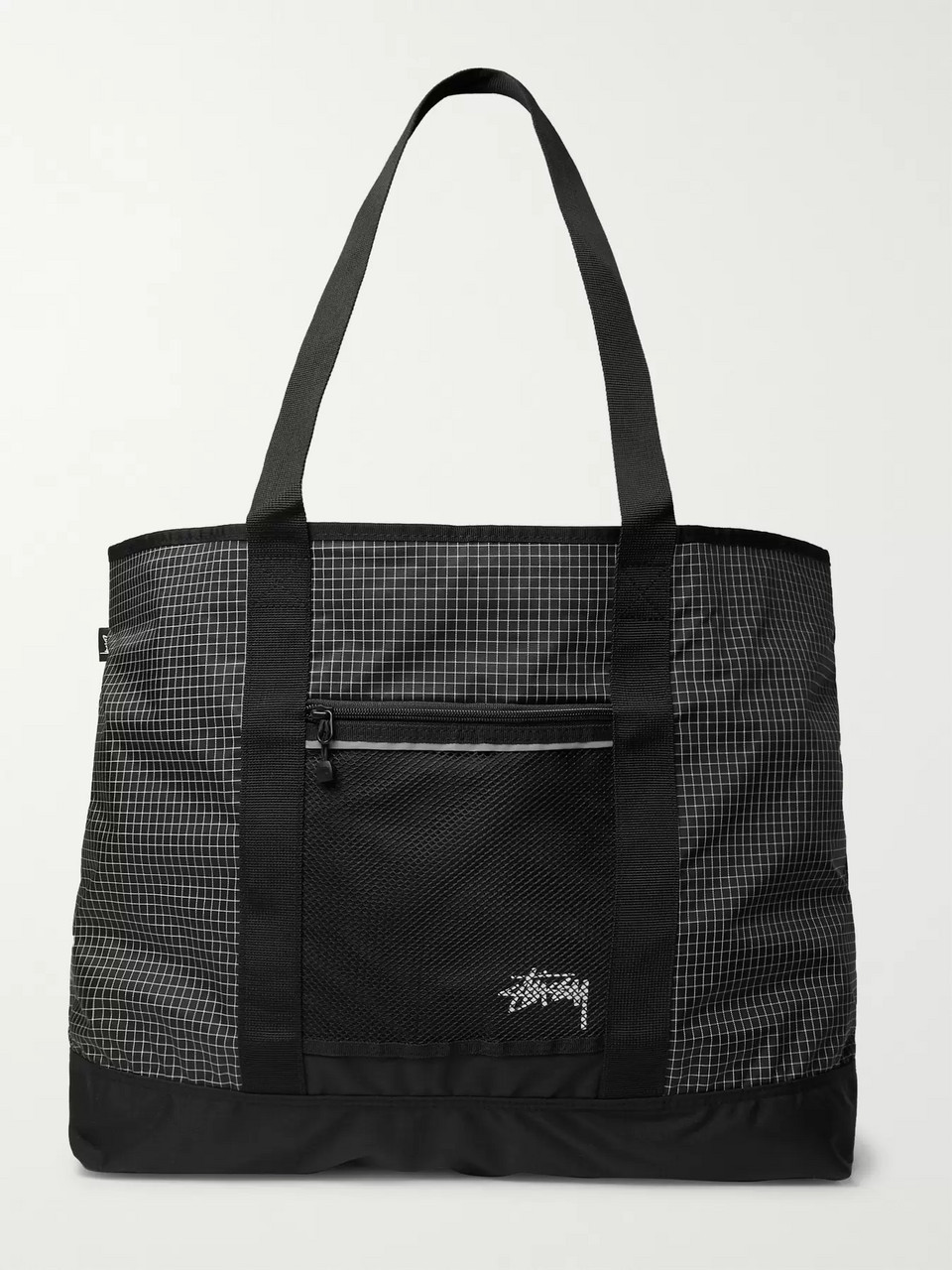 Stüssy Checked Ripstop-Shell Tote Bag