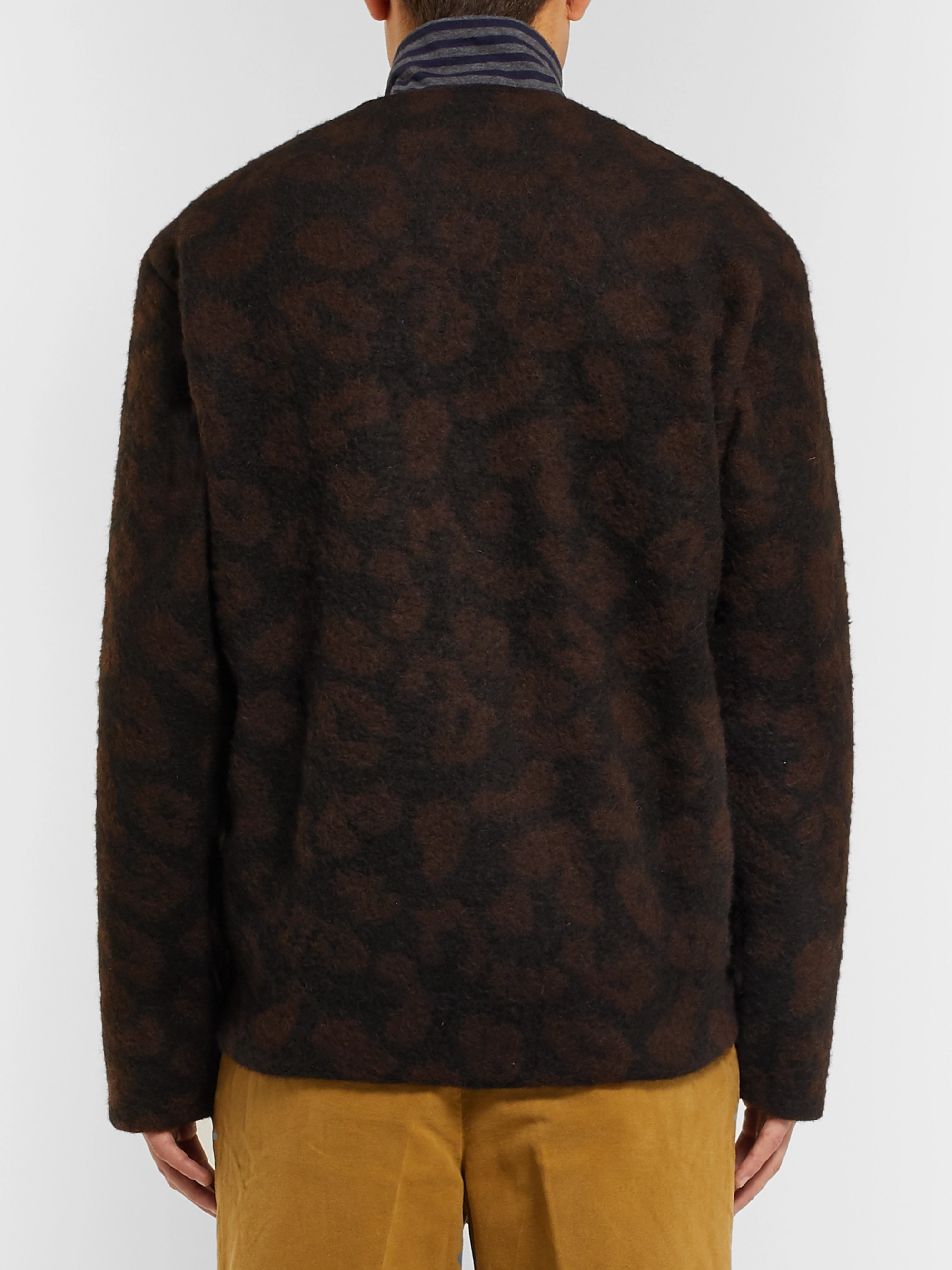 Our Legacy Leopard Jacquard-Knit Cardigan