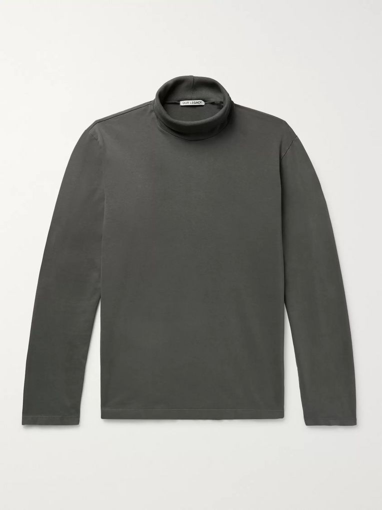 Our Legacy Cotton-Jersey Rollneck Sweatshirt