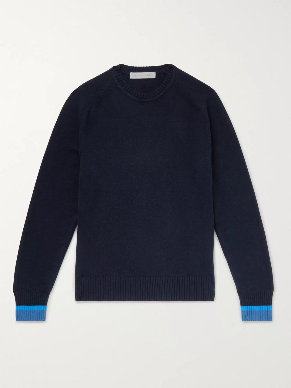 Orlebar Brown Lucas Contrast-Tipped Cashmere Sweater