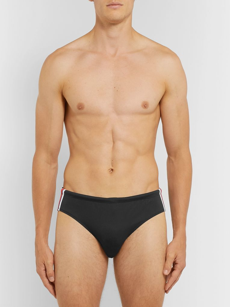 Orlebar Brown Dachshund Webbing-Trimmed Colour-Block Swim Briefs