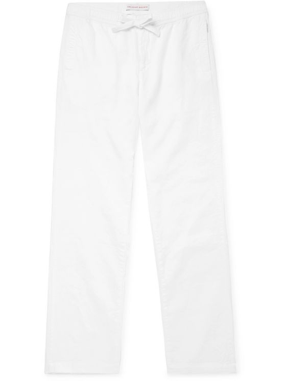 Orlebar Brown Stoneleigh Linen Drawstring Trousers