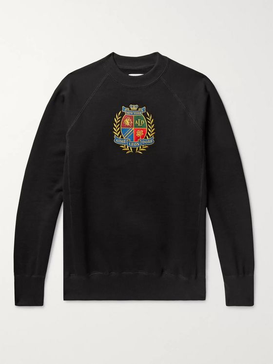 Aimé Leon Dore Logo-Embroidered Loopback Cotton-Jersey Sweatshirt