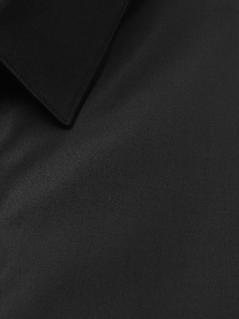 Hugo Boss Black Slim-Fit Cotton-Poplin Tuxedo Shirt