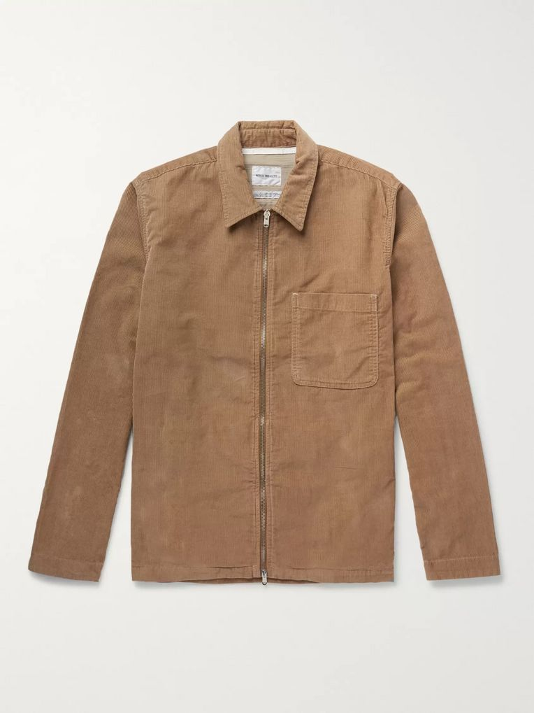Norse Projects Jens Cotton-Corduroy Zip-Up Overshirt