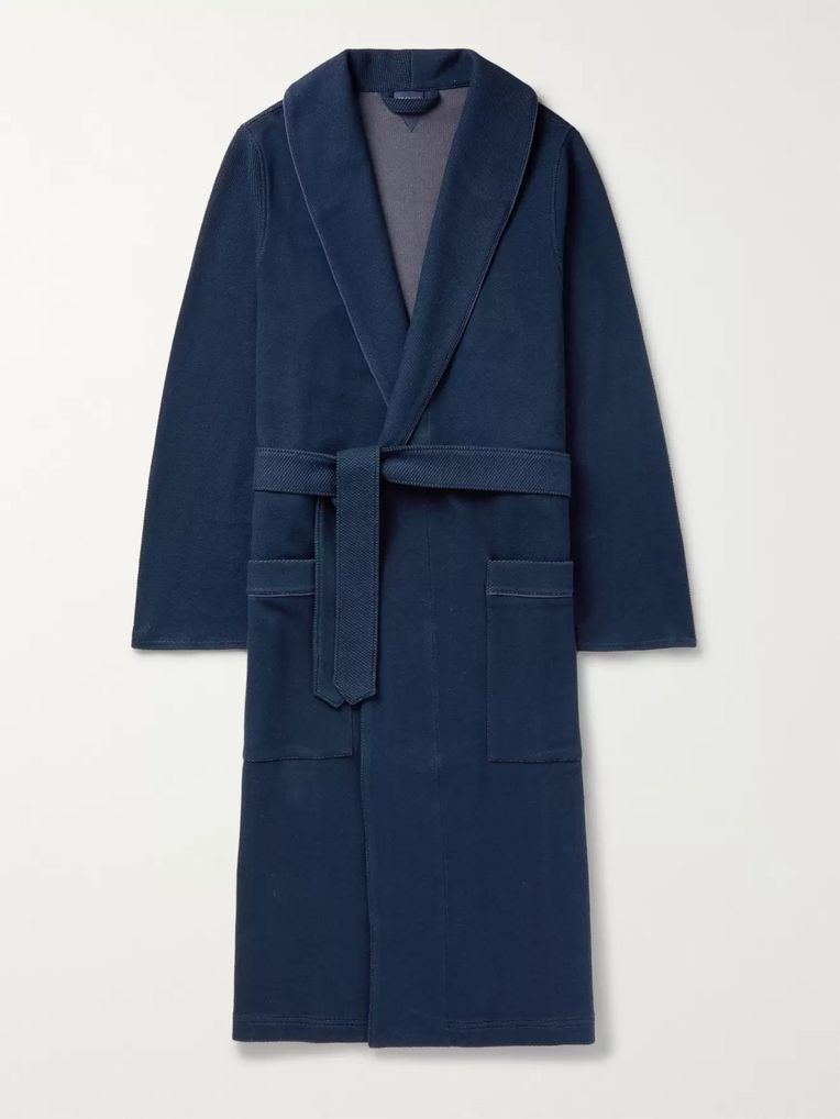 Hugo Boss Waffle-Knit Cotton Robe