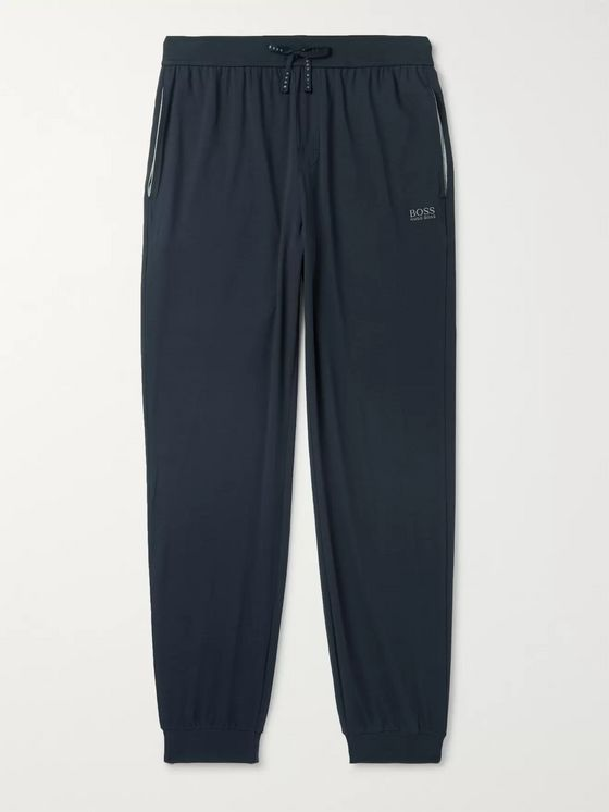 HUGO BOSS Tapered Stretch-Cotton Jersey Lounge Pants