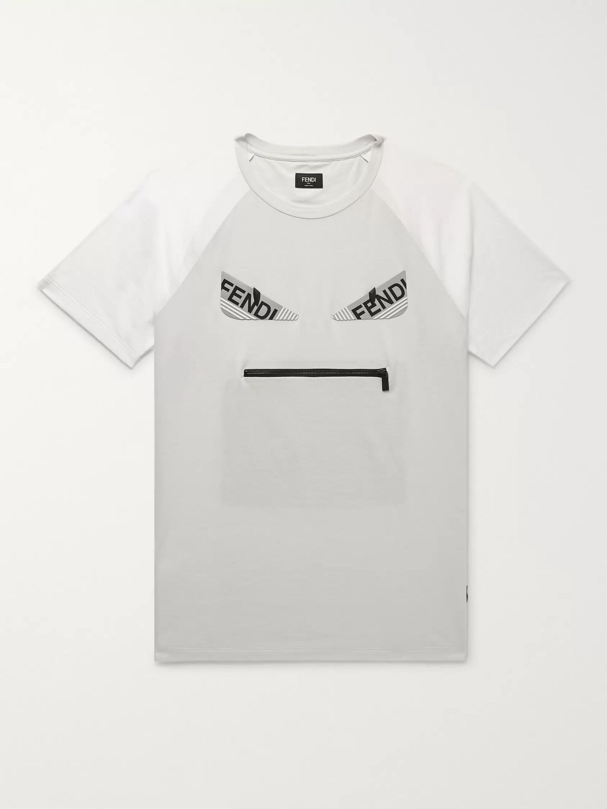 Bag Bugs Logo Appliquéd Cotton Jersey T Shirt