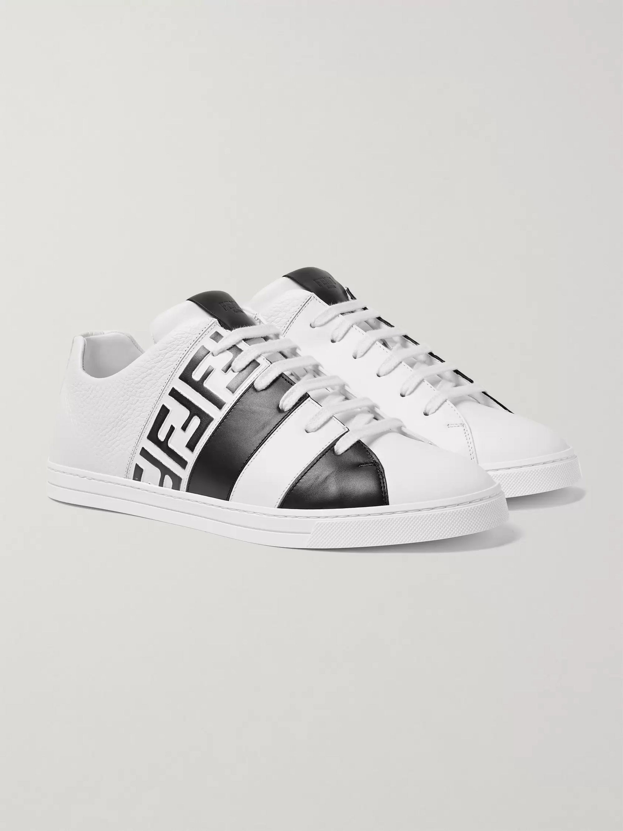 official photos 1bbea 1ed35 Logo-Print Leather Sneakers