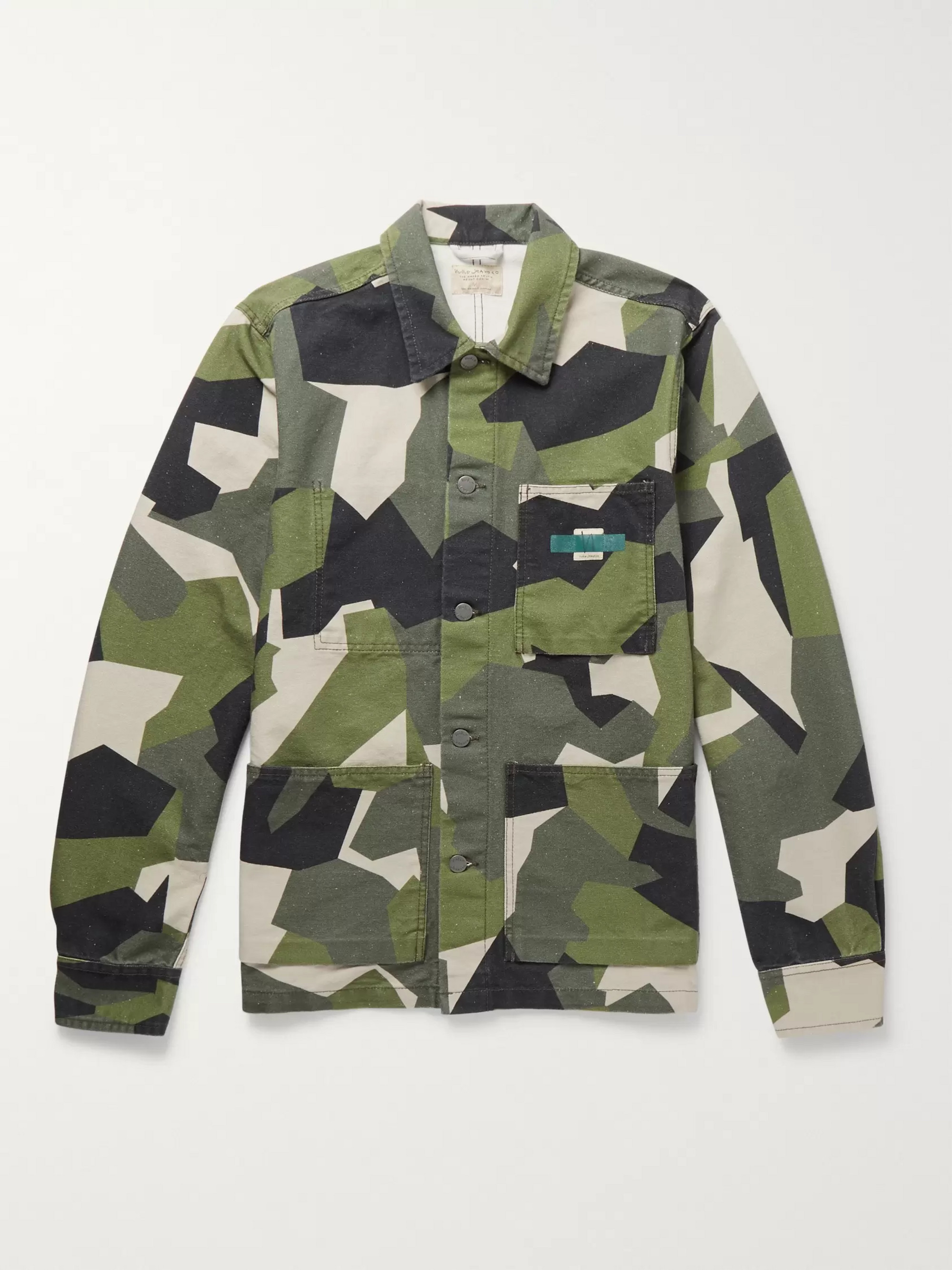 Nudie Jeans Paul Camouflage-Print Organic Cotton-Canvas Jacket