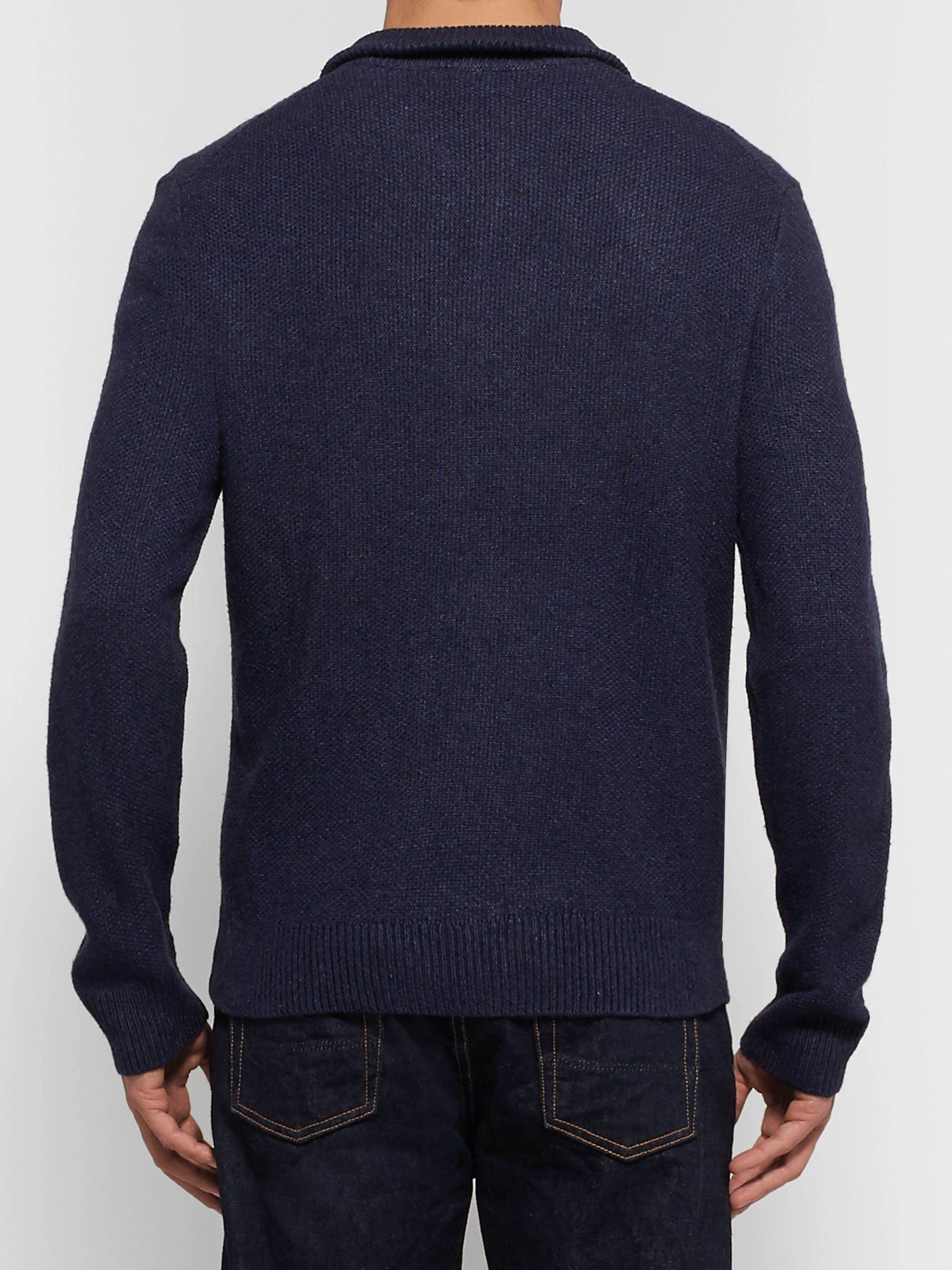 Polo Ralph Lauren Mélange Tussah Silk Half-Zip Sweater
