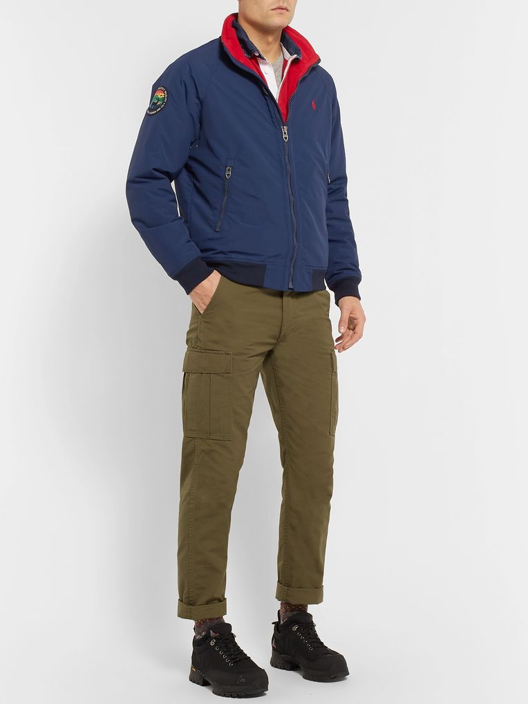 Polo Ralph Lauren Logo-Appliquéd Shell Bomber Jacket