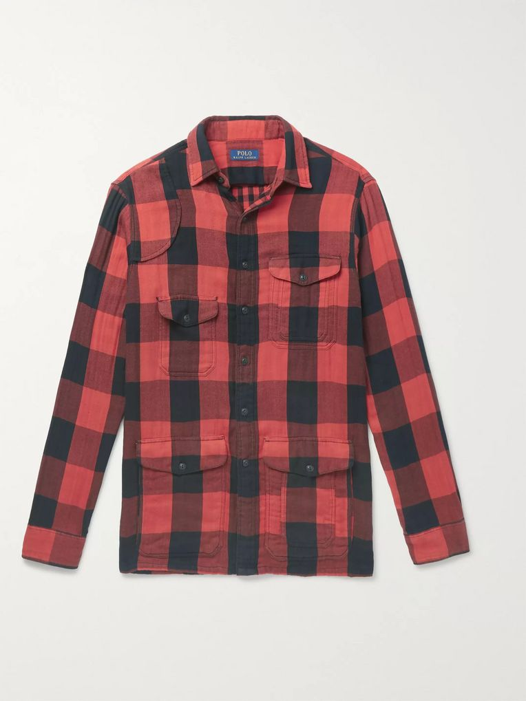 Polo Ralph Lauren Buffalo-Checked Cotton-Flannel Overshirt