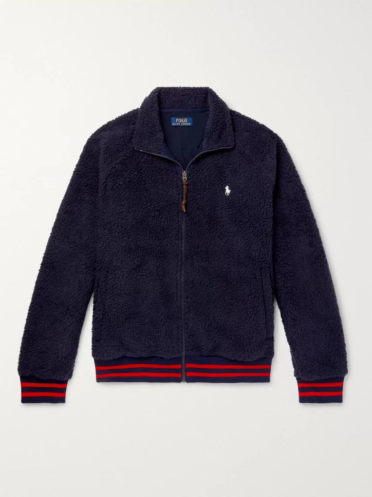 Polo Ralph Lauren Stripe-Trimmed Fleece Jacket