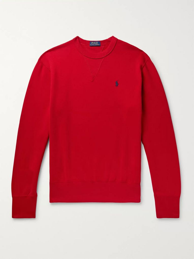Polo Ralph Lauren Fleece-Back Cotton-Blend Jersey Sweatshirt