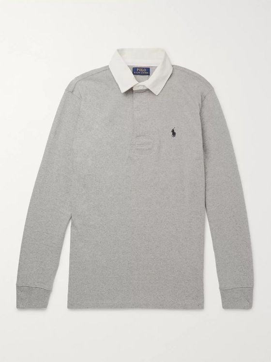 Polo Ralph Lauren Twill-Trimmed Cotton-Jersey Polo Shirt