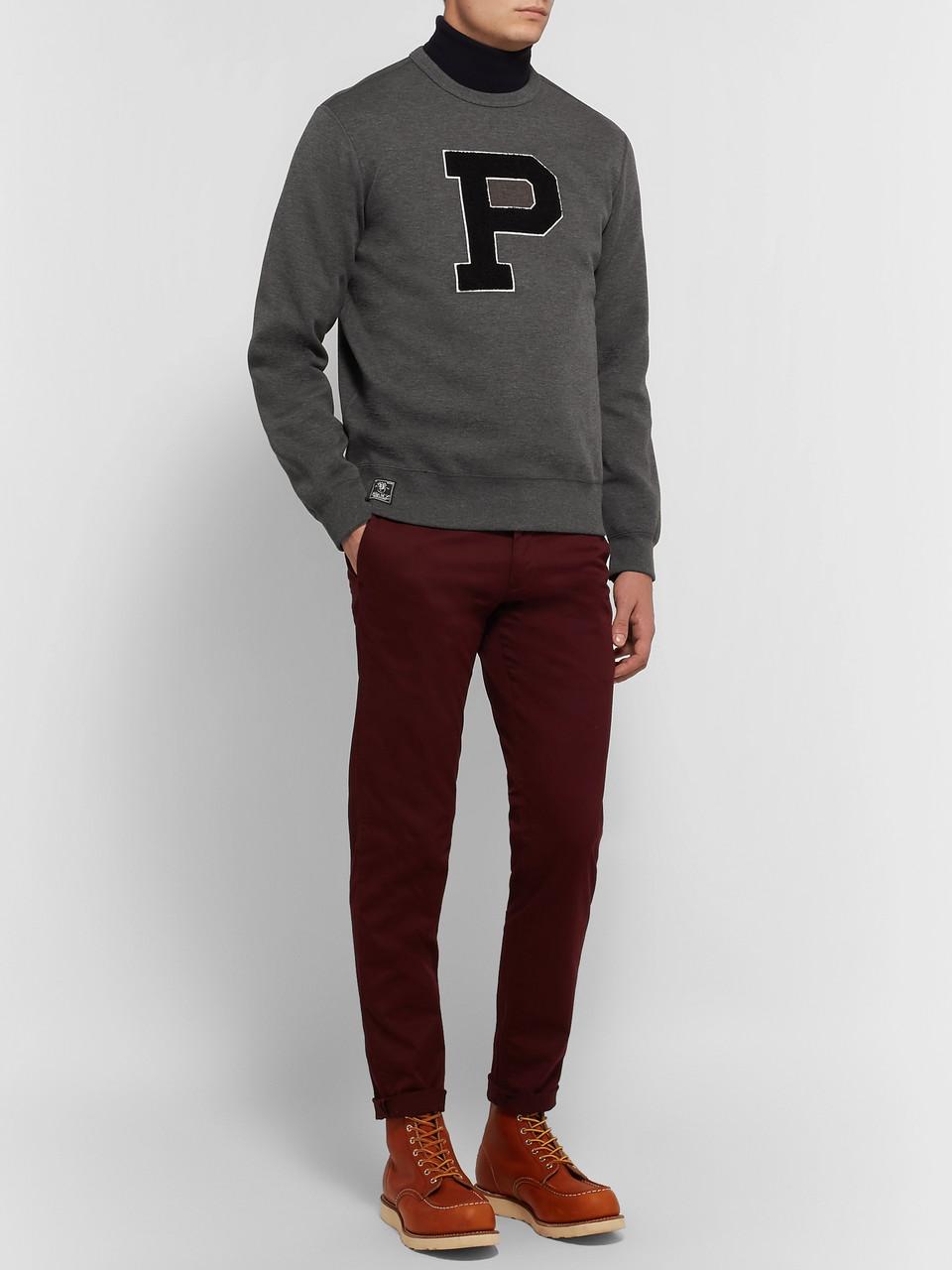 cc4c8b5e7 Polo Ralph Lauren Appliquéd Mélange Jersey Sweatshirt