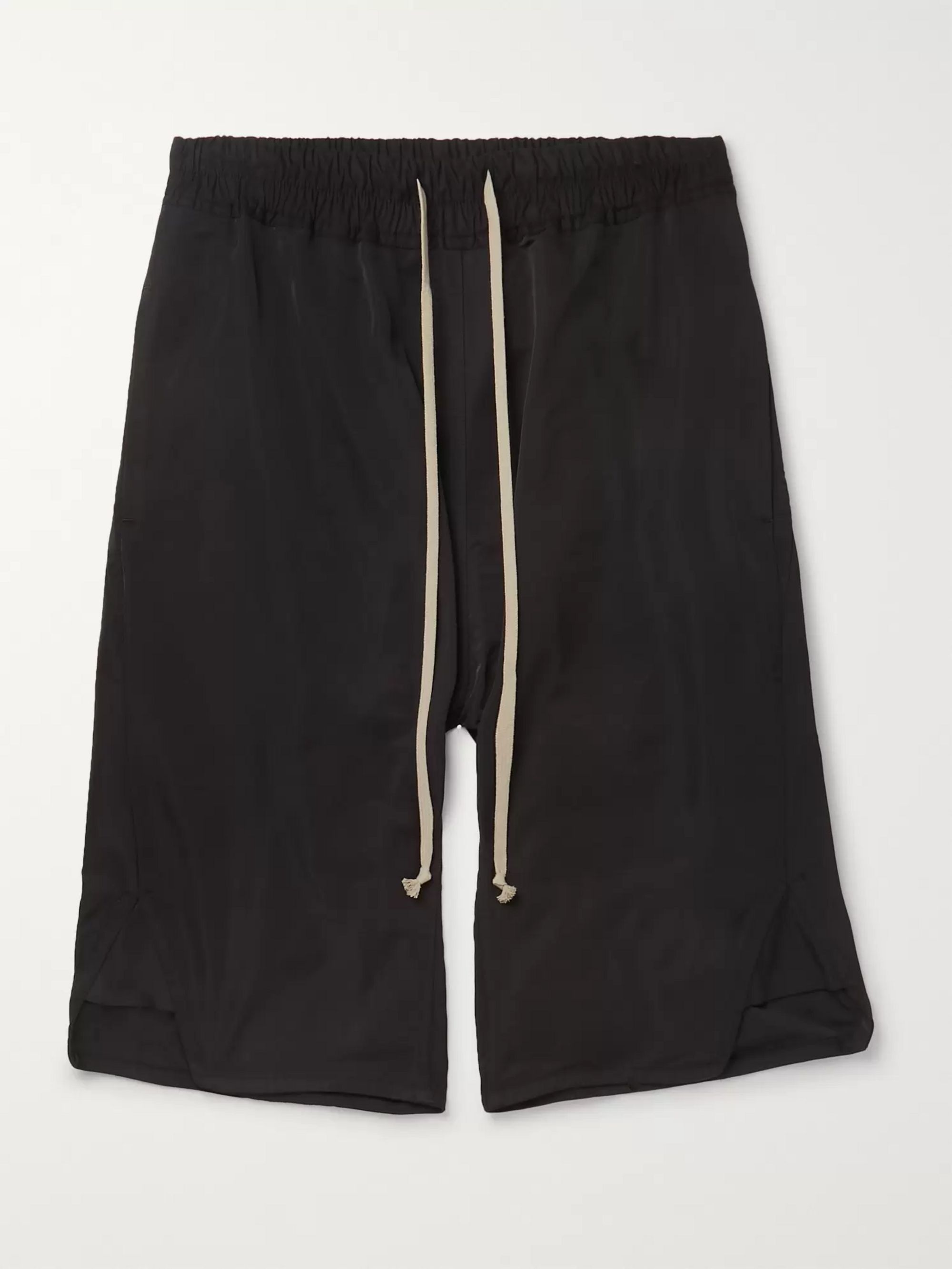 Rick Owens Basket Swinger Stretch-Cotton Shell Drawstring Shorts