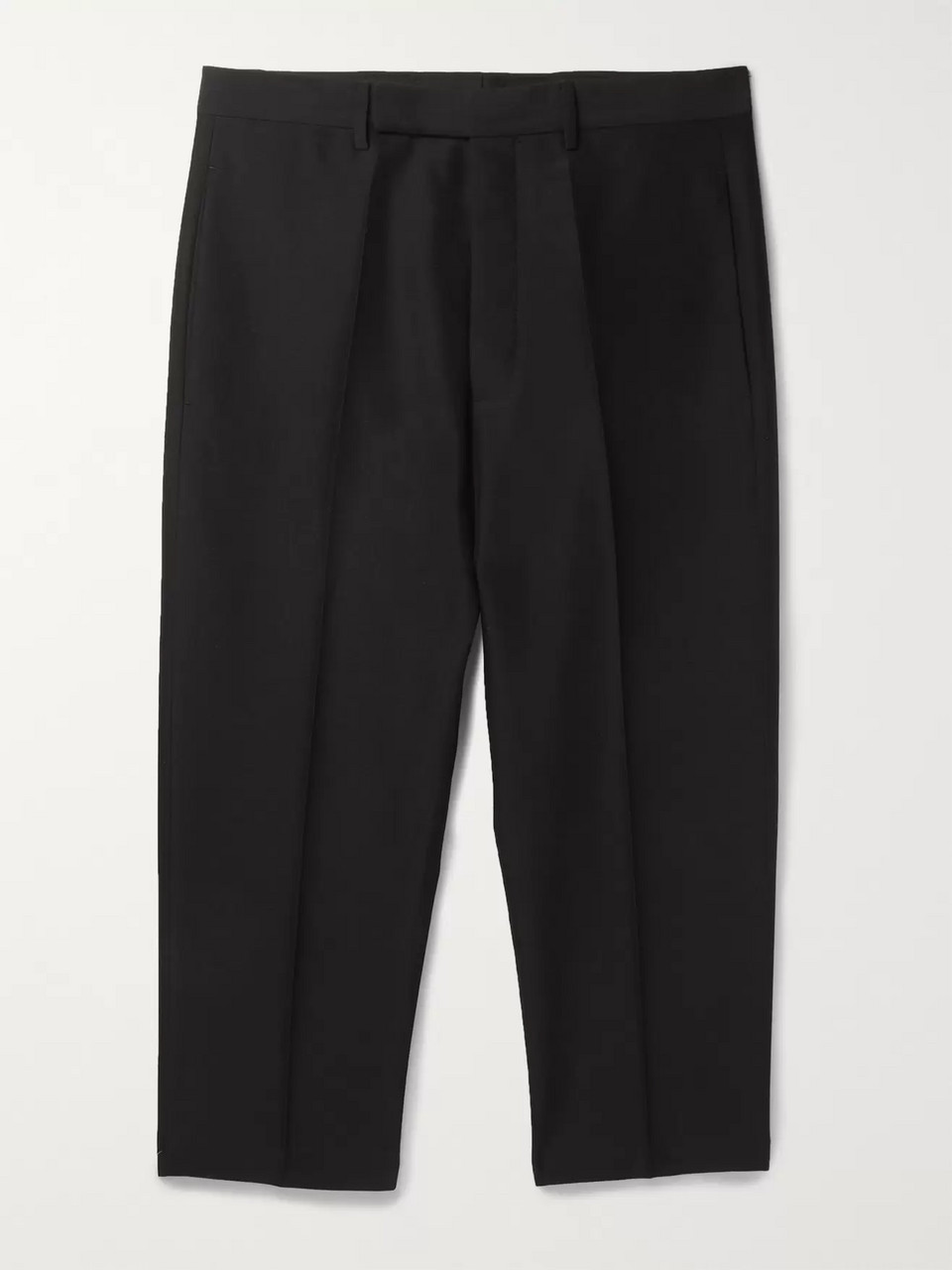 Rick Owens Cropped Tapered Woven Trousers