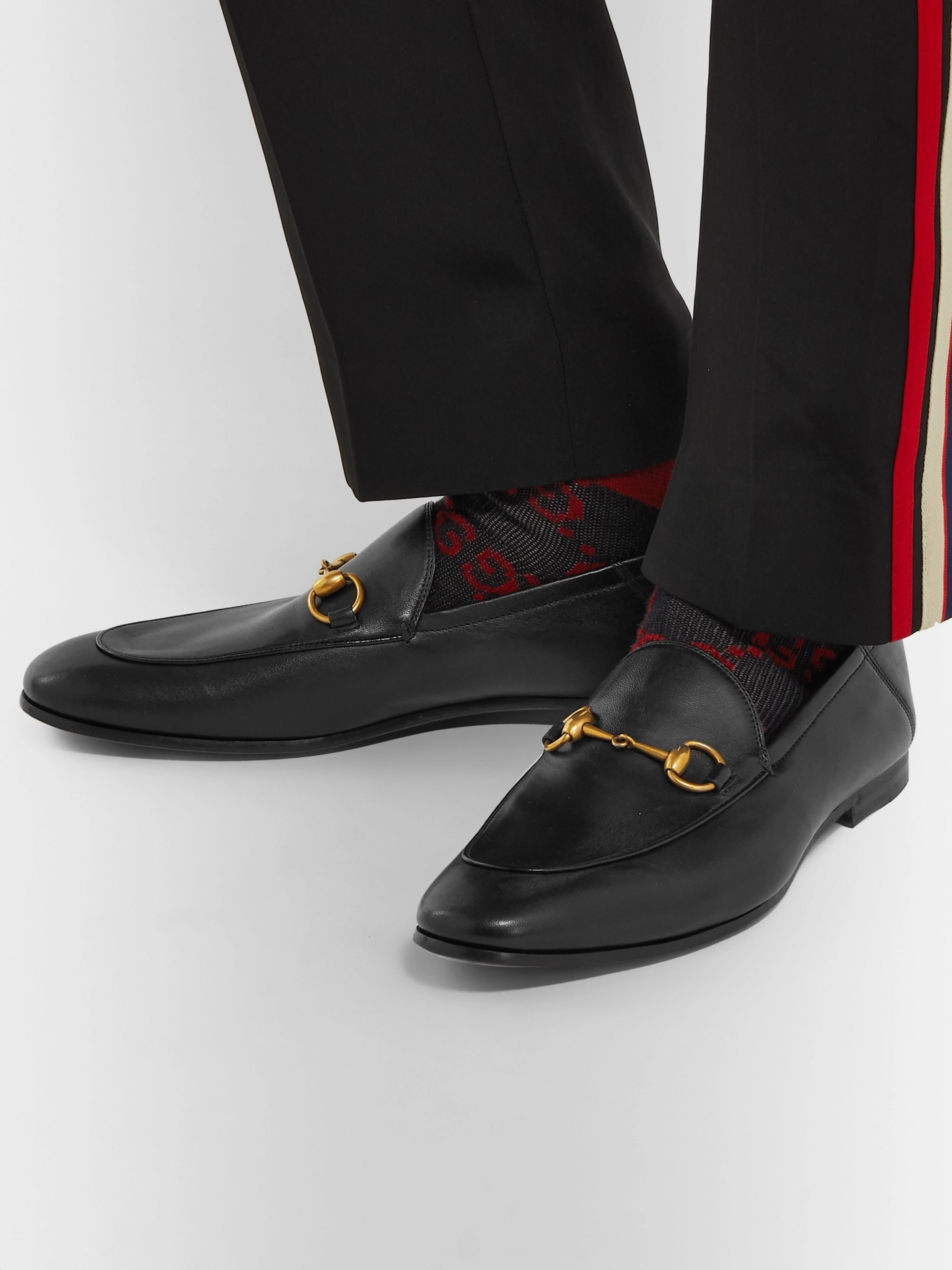 Gucci Brixton Horsebit Collapsible-Heel Leather Loafers