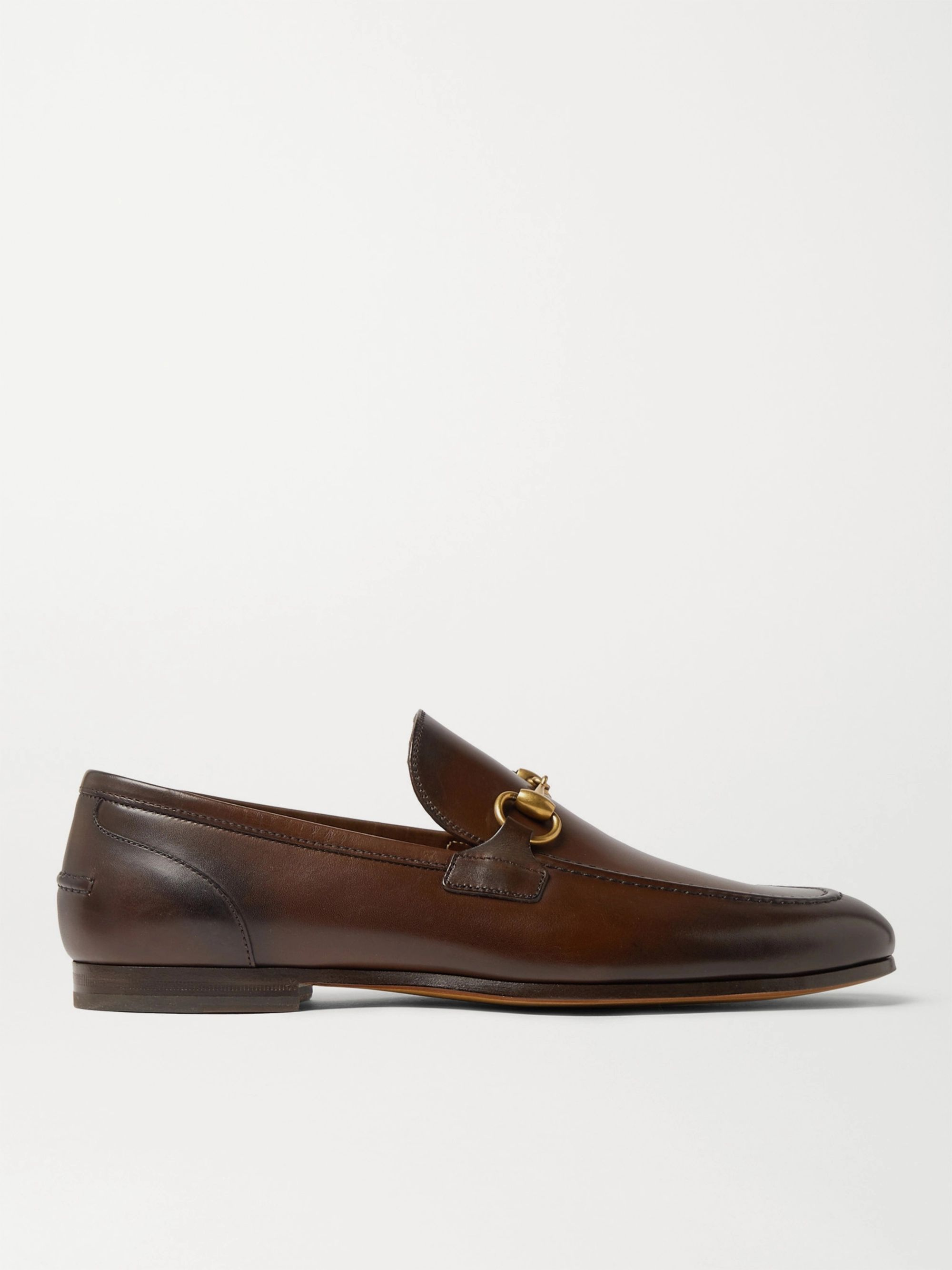 GUCCI Horsebit Leather Loafers