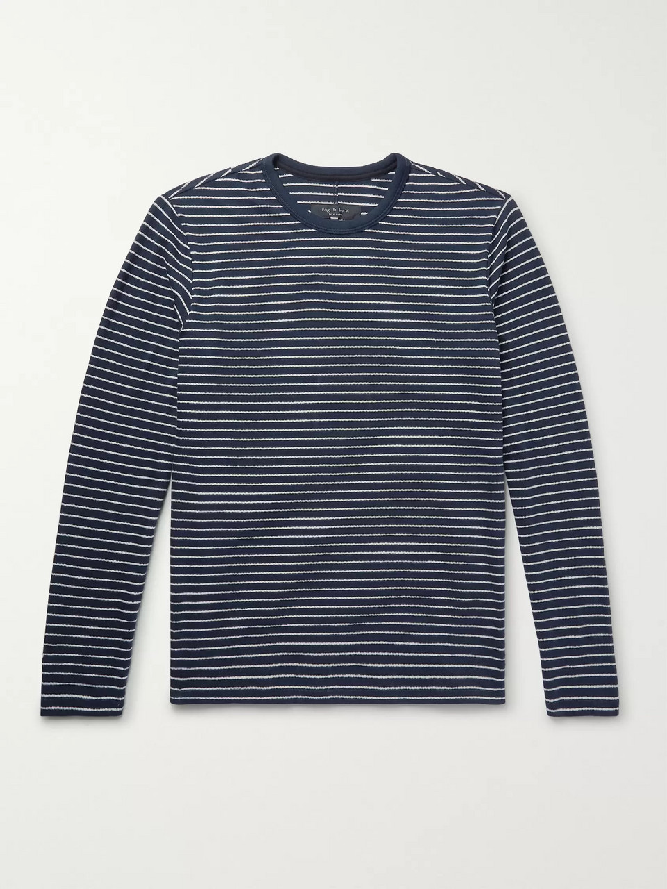 rag & bone Striped Cotton-Blend T-Shirt