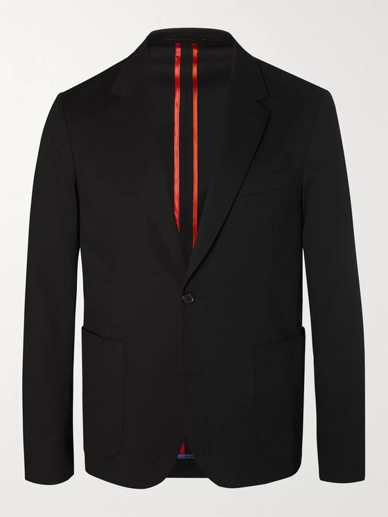 PS Paul Smith Black Slim-Fit Unstructured Stretch-Cotton Blazer