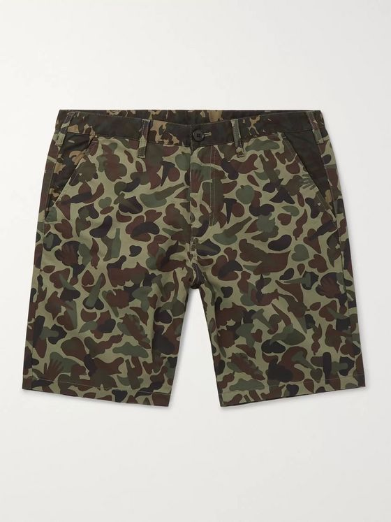 PS Paul Smith Camouflage-Print Cotton Shorts
