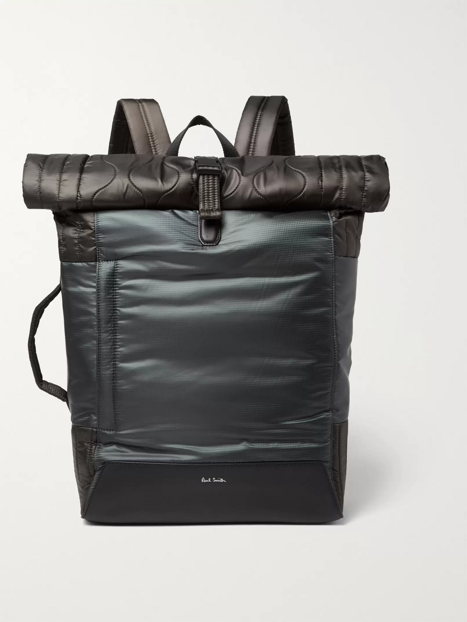 Paul Smith Quilted Nylon and Leather Backpack