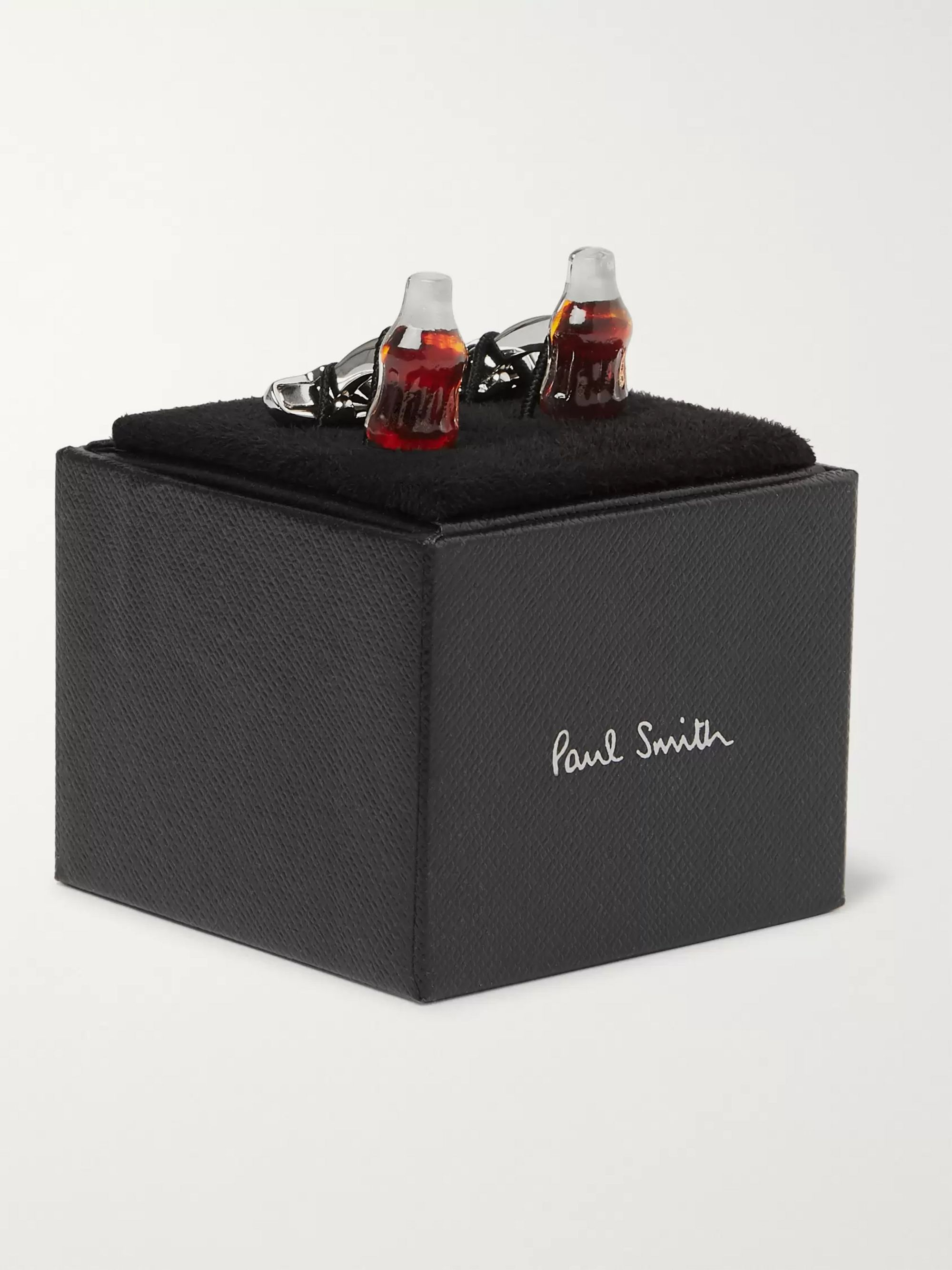 Paul Smith Cola Bottle Silver-Tone and Resin Cufflinks