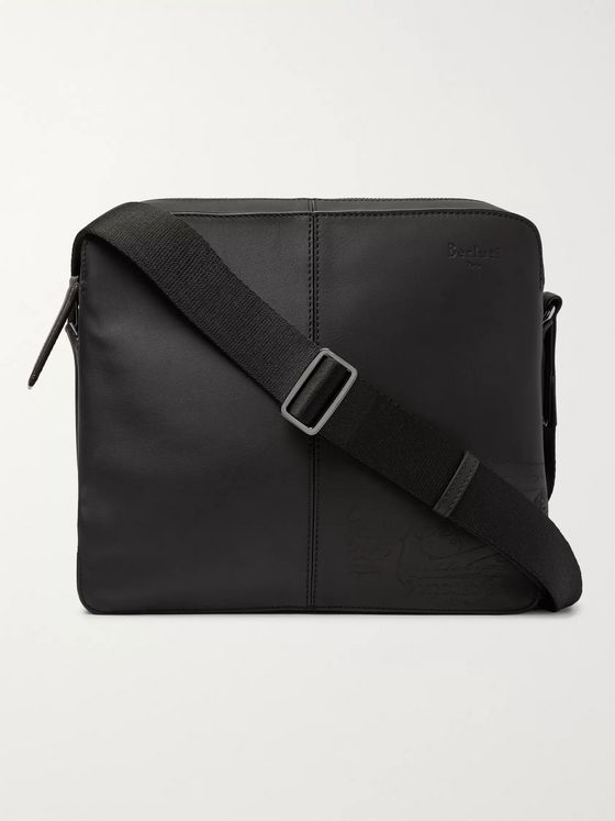 Berluti Monolithe MM Scritto Matte-Leather Messenger Bag