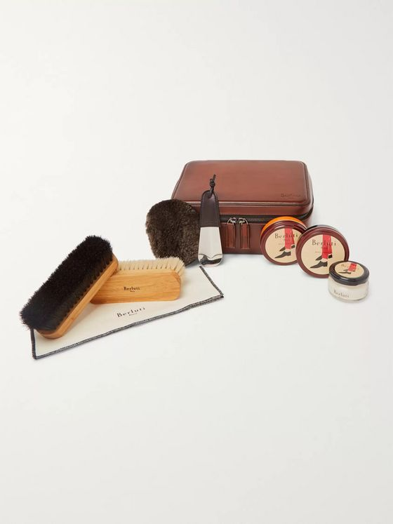 Berluti Shoe Care Set with Leather Case
