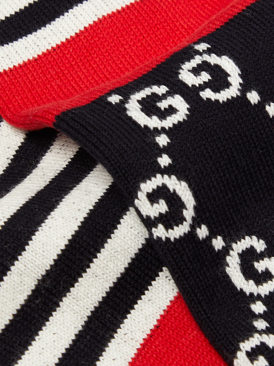 Gucci Striped Logo-Jacquard Stretch Cotton-Blend Socks