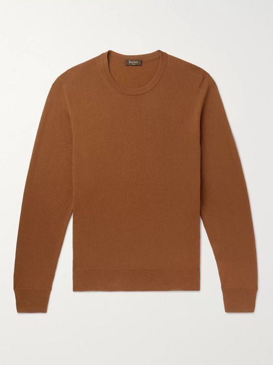 Berluti Leather-Trimmed Cashmere Sweater