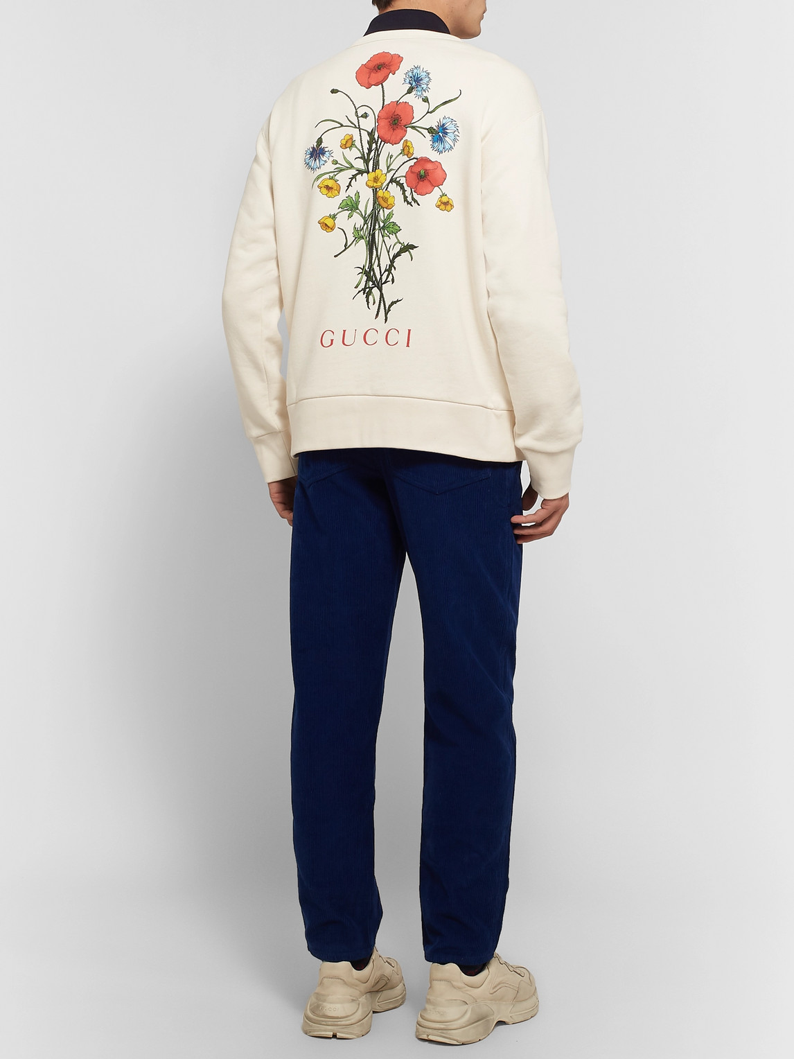 Gucci T-shirts PRINTED LOOPBACK COTTON-JERSEY SWEATSHIRT