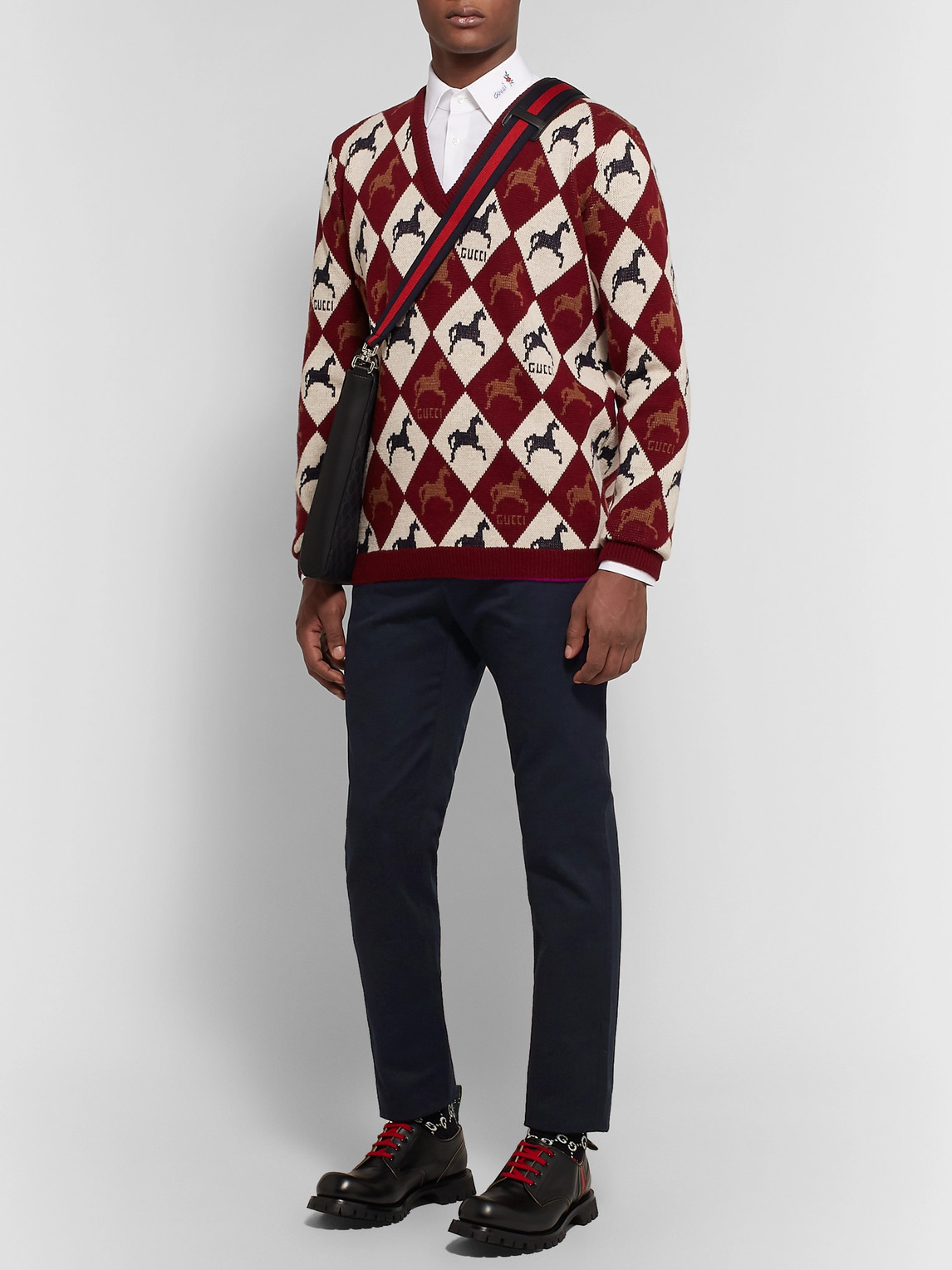 Gucci Pants SLIM-FIT COTTON-DRILL TROUSERS