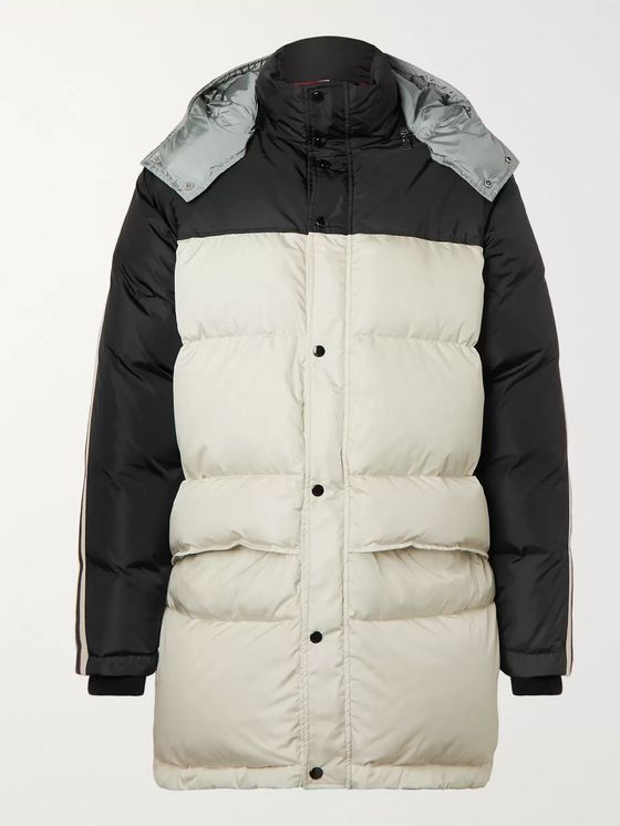 Gucci Webbing-Trimmed Quilted Shell Hooded Down Jacket