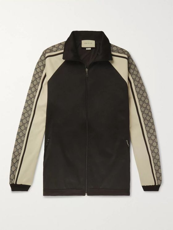 Gucci Logo Striped Tech-Jersey Track Jacket