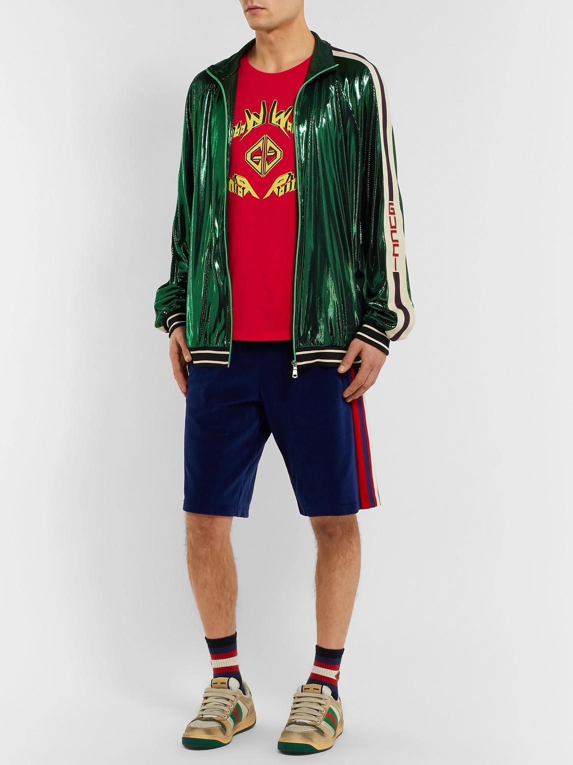 Gucci T-shirts PRINTED COTTON-JERSEY T-SHIRT