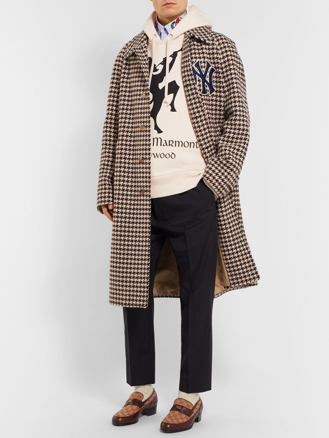 Gucci Tops OVERSIZED PRINTED LOOPBACK COTTON-JERSEY HOODIE