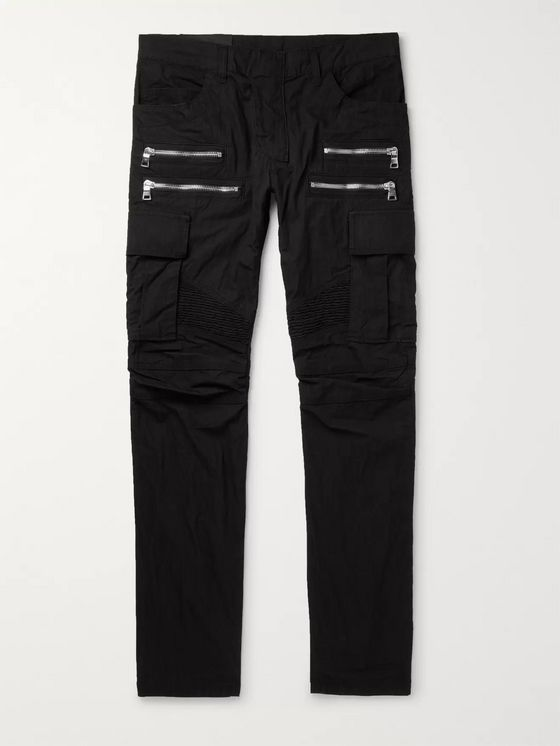 BALMAIN Slim-Fit Cotton-Blend Cargo Trousers