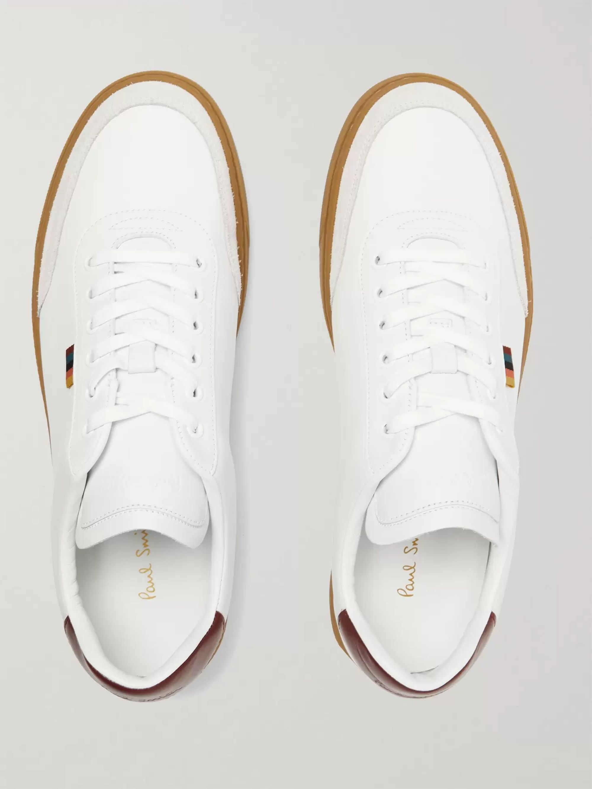 Paul Smith Earl Suede-Trimmed Leather Sneakers